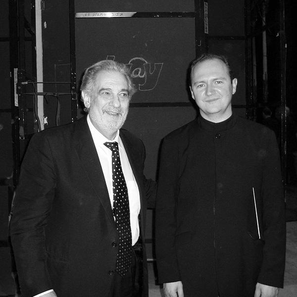 Con el Maestro Domingo en Téâtre du Châtelet, Paris